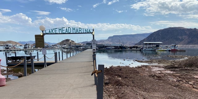 Lake Mead Marina is a family-owned business. The lake's water levels affect daily operations. (Ashley Soriano/Fox News)