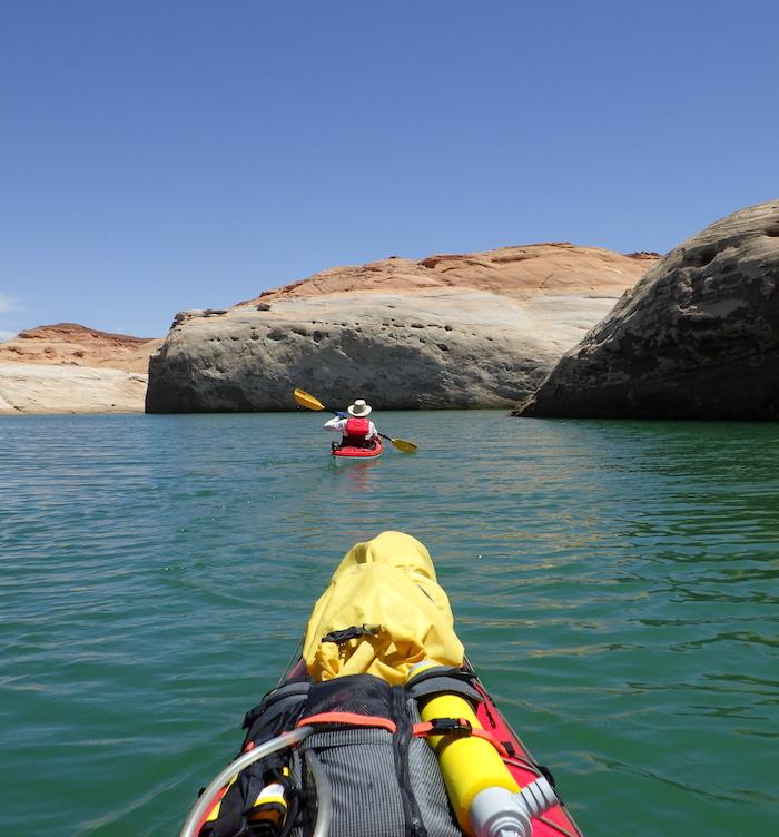 Page officials hope the lack of houseboats on Lake Powell will lure kayakers to the lake/Kurt Repanshek file