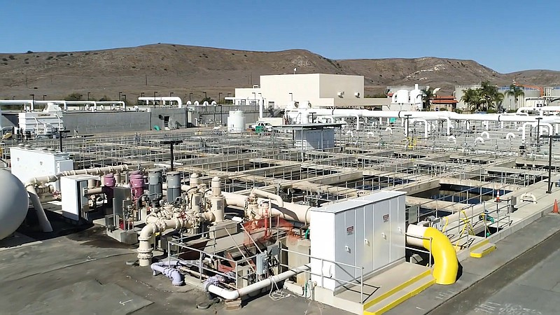 Pure Water Oceanside Project purification plant in an undated still from a pr...